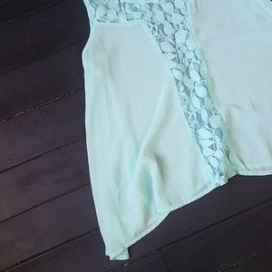 Anthropologie Tops - 🌼 Anthropology Baby Blue Flowy Tank Blouse